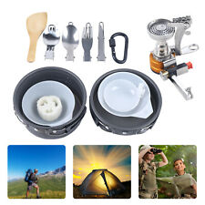 New listing Outdoor Camping Cookware Steam/Boil/Fry Kit Hiking Portable Cooking Utensils Kit