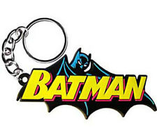BATMAN - Caped Logo - Rubber KEYCHAIN - NEW