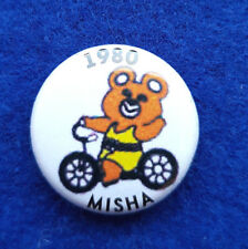 Olympic Games Moscow 1980 Olympic Misha cyclist TeamRussia bicycling pin