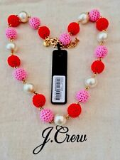 New$58 Color: Cerise With J.Crew Bag�� J.Crew Crochet Bead Necklace! Sold Out