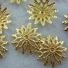 Wholesale 150pcs Yellow Gold Plated Flower Bead Caps Jewerly Findings 12mm