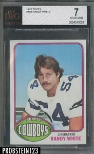 1976 Topps Football #158 Randy White Cowboys RC Rookie HOF BVG 7 NM