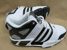 ADIDAS Pilrahna 4.0 Team Black White Silver Basketball Shoes Men's Size 8.5 NIB