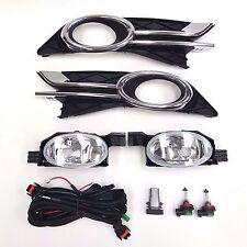 Clear Lens Fog Driving Light Kit For 2014-2017 Honda Odyssey Switch Bulb Bezel
