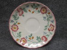 """Churchill Staffordshire England China Briar Rose Design Saucer 5.5"""" Diameter"""