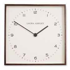Laura Ashley Thomas Dark Wood Large Wall Clock Square New Boxed Christmas Gift