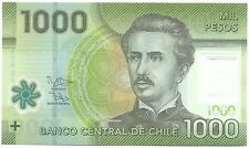Chile 1000 pesos 2014 P 161 UNC IC Pinto national park Torres del Paine, huanaco