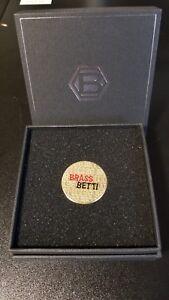 """Bettinardi HIVE release """"Brass Betti"""" Ball Marker Coin RARE SOLD OUT w/ box case"""