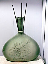 """REED DIFFUSER VASE """"TREE OF LIFE"""" 8&3/4""""~w/oTOP~11&3/4""""w/TOP~LT. GREEN SPECKLE"""