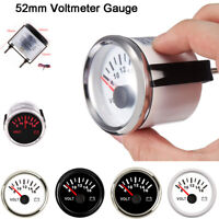 52mm 2'' Marine Boat Voltmeter Gauge Electrical Car Truck 8-16V 316L W/Backlight