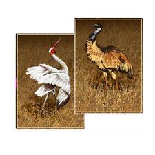© ART - Ltd.Ed. Emu & Brolga Australian wildlife bird ACEO collector card by Di