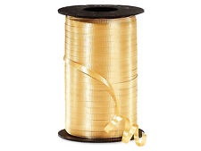 """*250YDS* 3/8"""" GOLD Crimped Poly Curling Ribbon"""