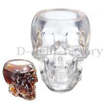 Verre Alcool Tête Mort Head Shot Skull Crâne Cristal Coupe vodka vin verrerie NF