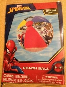 """Marvel Spider-man Inflatable 13½"""" Beach Ball~NEW~Age 3+~Spiderman Swim Water Toy"""