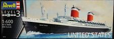 Revell Germany 5146 SS United States Ocean Liner plastic model kit 1/600