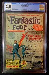 Fantastic Four #13 🔥 CGC 4.0 🔥 1st App Watcher and Red Ghost! 1963