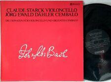 Bach Claude Starck, Dähler - Die 3 Sonaten Für Violoncello Und Obligates Cembalo