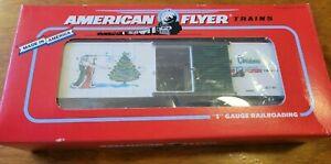 AMERICAN FLYER ~ 1996 Christmas Holiday Boxcar ~ #6-48325