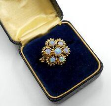 Vintage 14k gold & opal cabochon ring size 5.5