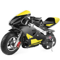 XtremepowerUS Gas Pocket Bike Motorcycle 40cc 4-Stroke Engine