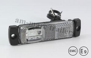 12-24V White LED front MARKER slim line side position lamp light truck trailer