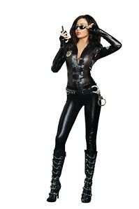 Dreamgirl  Women's Halloween Costume Special Ops 9443 , Black, Large, X-Large