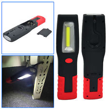 Battery Power COB+LED Hand Torch Lamp Magnetic Inspection Work Light Flexible