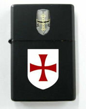 Medieval Templar Knight Crusades Holy Land Battle Shield Dog Tag Lighter War KT