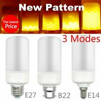 E27 E14 B22 LED Burning Light Flicker Flame Lamps Bulbs Fire Effect Xmas Decor