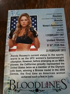 Ronda Rousey bloodlines 2013 topps
