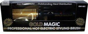 Gold Magic Professional Hot Electric Styling Brush Iron GM-HB1