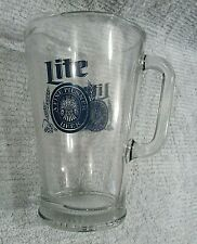 Lite A Pilsner Beer Vintage 1980's Heavy Glass Restaurant Bar Pitcher Free S/H