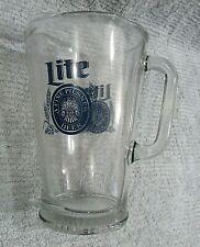 Lite A Pilsner Beer Vintage 1980's Heavy Glass Restaurant Bar Pitcher Free S/H