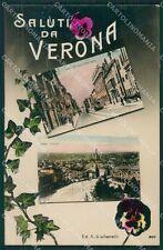 Verona Città Saluti da Foto cartolina QK7400