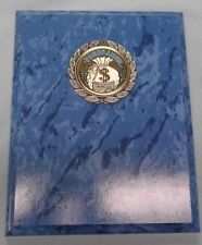 7 x 9 blue marble finish plaque trophy fund raiser bag of money