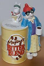 "Hallmark Maxine's Bitter Blend Coffee Ceramic Bank w/Floyd ""Worthless Pennies"""