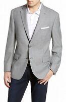 Hart Schaffner Marx Mens Sport Coat Gray Size 46 Long Notched Wool $495 188