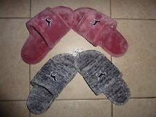 VICTORIAS SECRET VS PINK VELOUR LIKE DOG SLIPPERS NWT