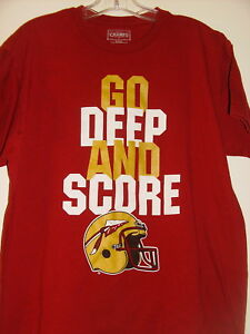 Men's FSU Florida State T Shirt ~ Go Deep and Score ~ Size Medium