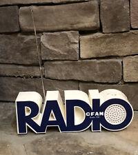 Vintage Cfam Radio 950 Old Psychedelic Hippie Eames Am - Fm Transistor Radio