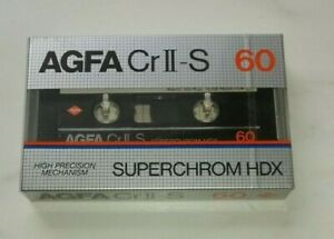 AGFA CrII-S 60 SUPERCHROME HDX Cassette Tape Brand New (Sealed)