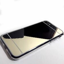 iPhone 7 Case Protective High Gloss Mirror Effect Gold With Screen Protector