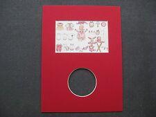 Passe-Partout pour encadrement rouge 18 x 24 cm