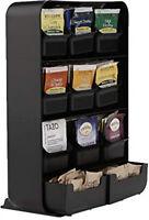 Mind Reader Baggy Tea Bag Holder And Condiment Organizer, Black