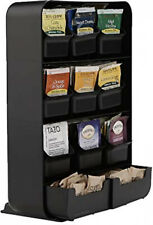 Mind Reader Baggy Tea Bag Holder And Condiment Organizer, Black