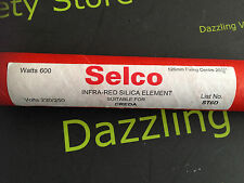 Selco Infra Red Silica Heater Element 600W 240V ST6D 526mm Creda 20 11/16""