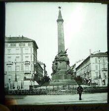 LANTERNA MAGICA FOTO  RISORGIMENTO MILANO MONUMENTO 5 GIORNATE FARMACIA 1890
