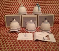 Lot Of Five(5) Lladro Bell Figurine Production Bell Ornament 1993