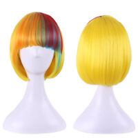 COS BOB Short Women's Wig Fashion Gradient Ombre Hair Cosplay Full Hair Wigs