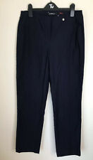 Robell Modell Bella  trousers, navy blue size 12 Stretch Pull on Pockets